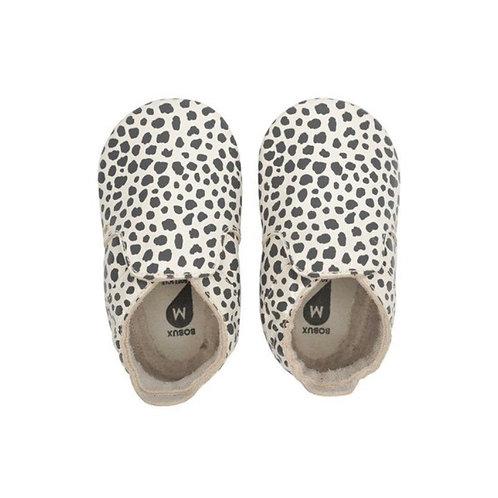 Bobux Baby Soft Soles Dalmatian Milk shoes