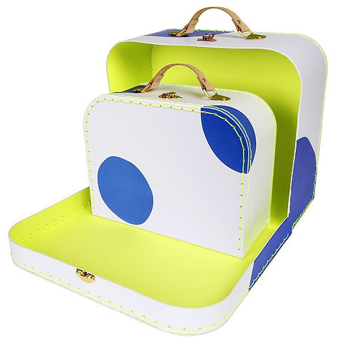 Blue Spot Suitcase Set Meri Meri