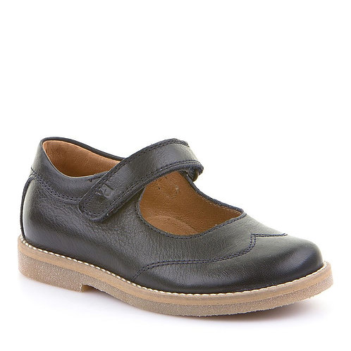 Froddo Navy Leather Sweetheart Mary Janes