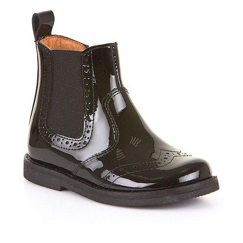 Froddo Black Patent Chelsea Boots