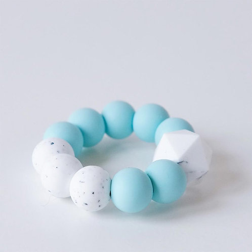 Baby Silicone Teething Toy Mint - Blossom & Bear