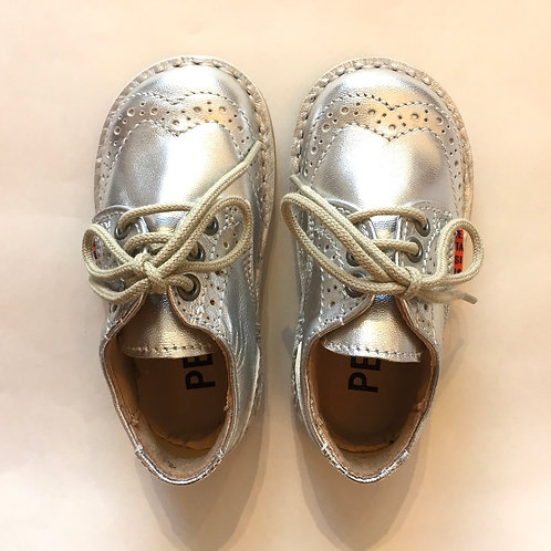 Petasil Charlie Brogues Silver boots shoes