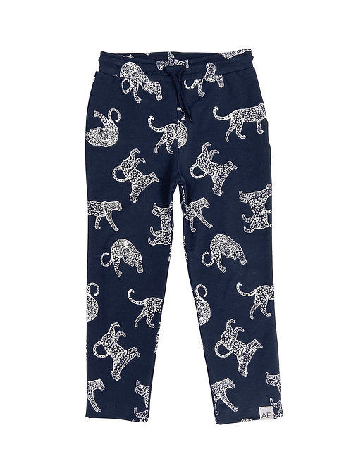 Leopard Joggers Navy Another Fox