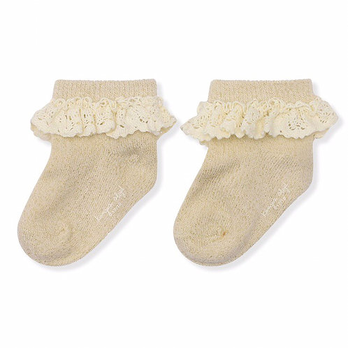 Konges Sløjd Lace/Lurex Socks - Cream