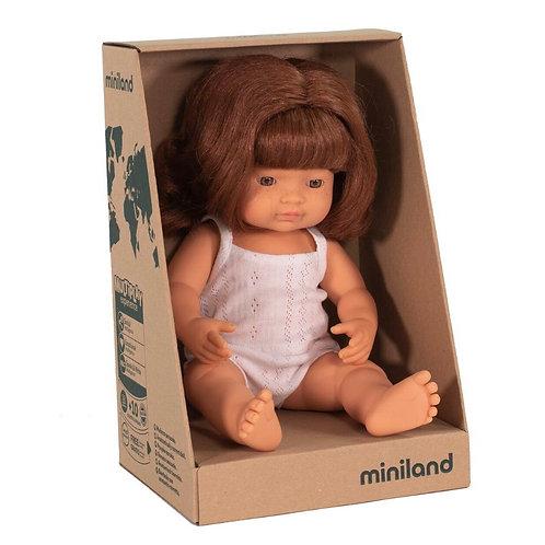 Miniland 38cm Toddler Doll - Redhead Girl