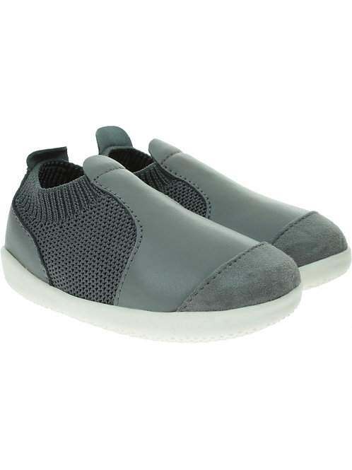Bobux Active Knit Xplorer First Walkers Smoke grey baby shoes
