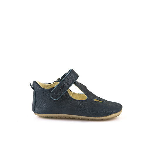 Froddo Prewalker Cruiser T-Bar Soft Soles - Navy shoes