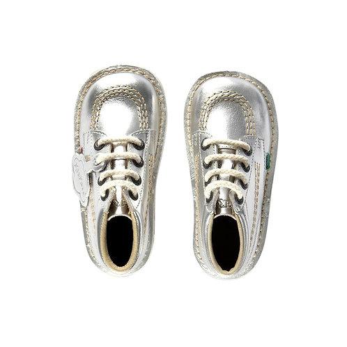 Kickers Kick Hi Junior Silver boots