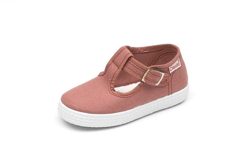 Cienta Jesse T-Bar Old Rose pink shoes trainers