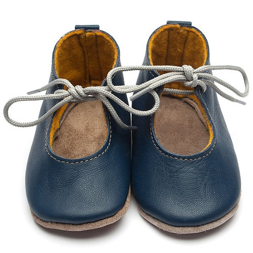 Mabel Soft Sole Baby Shoes by Inch Blue Navy