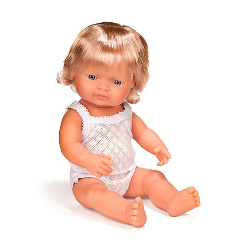 Miniland 38cm Toddler Doll - Caucasion Girl