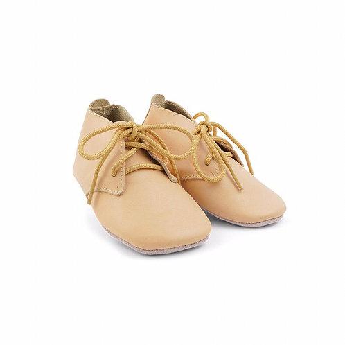 Bobux Baby Soft Soles Desert Rose beige shoes