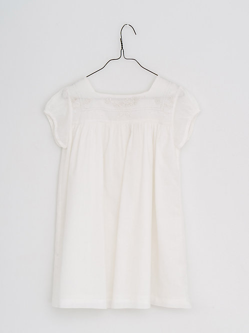 Jolie Dress with Embroidered Yoke - Little Cotton Clothes