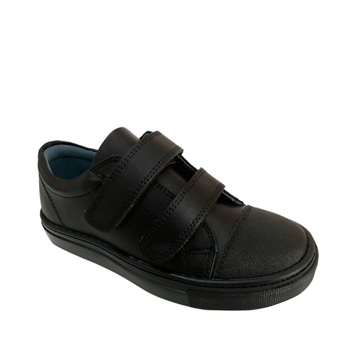 Black Vegan School Shoes Petasil velcro