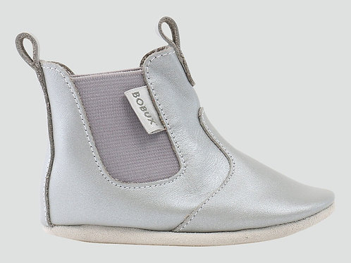 Bobux Soft Sole Babies Jodhpur Boot Silver