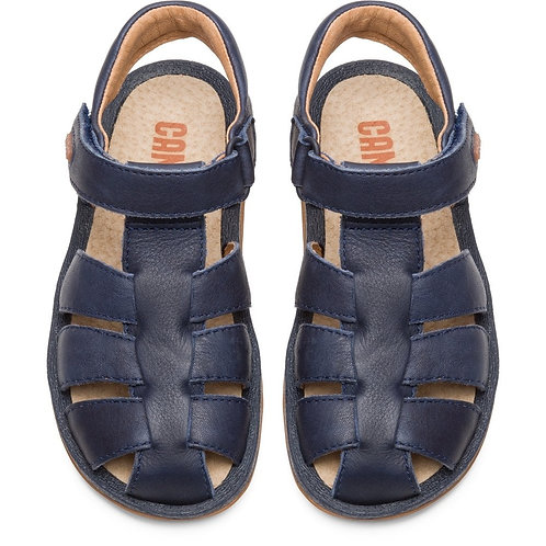 Camper Kids Navy Leather Closed Toe Sandals