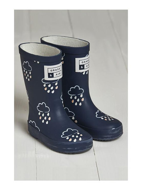 Navy Colour Revealing Wellies by Grass & Air