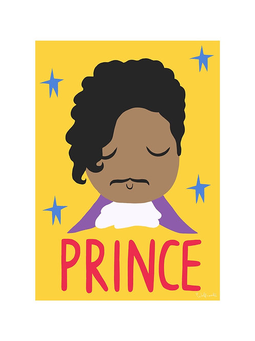 Prince Wall Print by Wolfnoodle