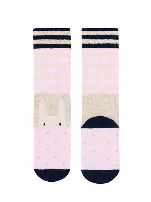 Billy Loves Audrey Harlequin Bunny Long Socks