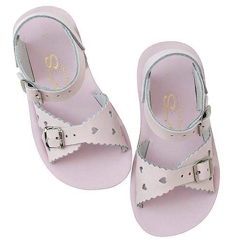 SaltWater Sweetheart Toddler Sandals Shiny Pink kids shoes