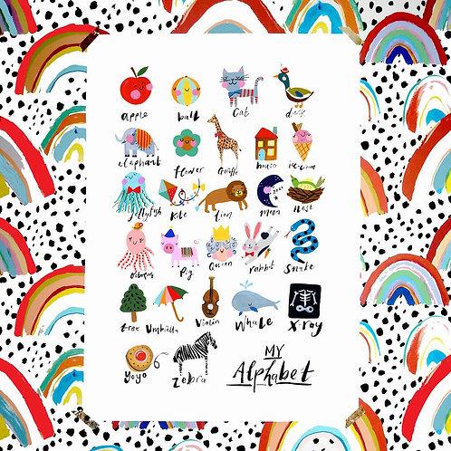 Alphabet Print by Eleanor Bowmer A3