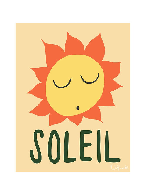 Soleil A4 Wall Print by Wolfnoodle