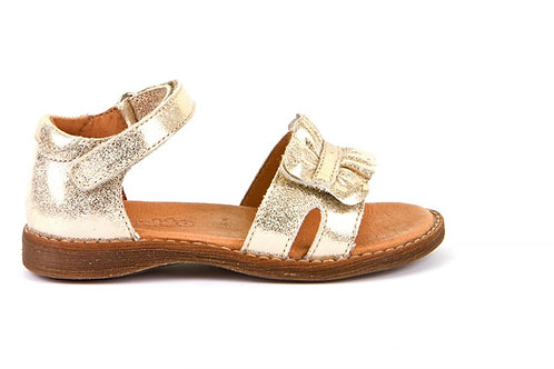 Froddo Soft Leather Frill Sandals Gold Shimmer girls shoes