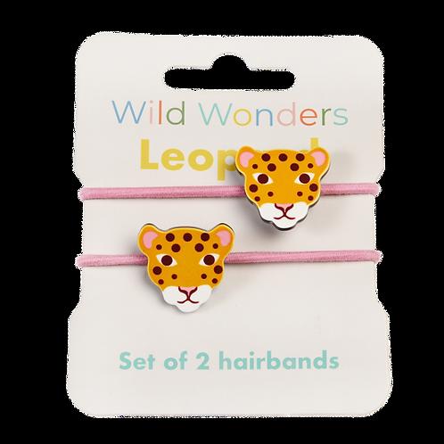 Leopard Hair Elastics - 2 Pack