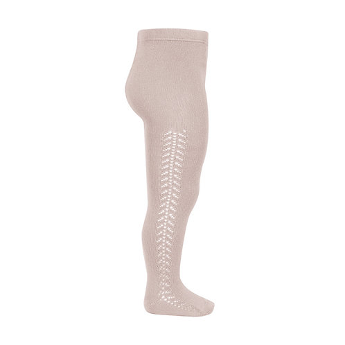 Condor Side Openwork Warm Tights - Old Rose