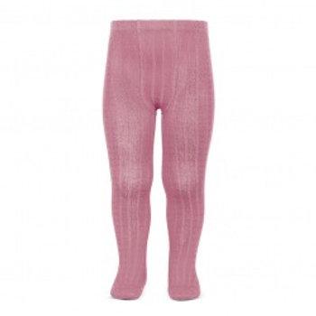 Condor Ribbed Tights - Rose Pink (Tamarisk)