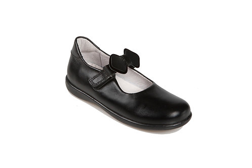 Bo-Bell Girls School Shoes with 2 in 1 Bow