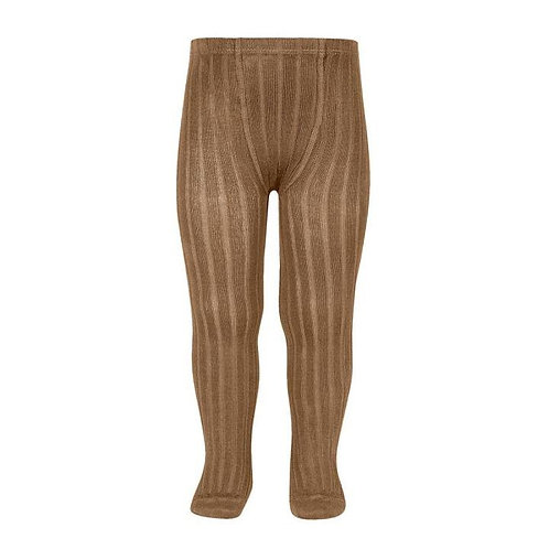 Ribbed tights in Toffee - Condor