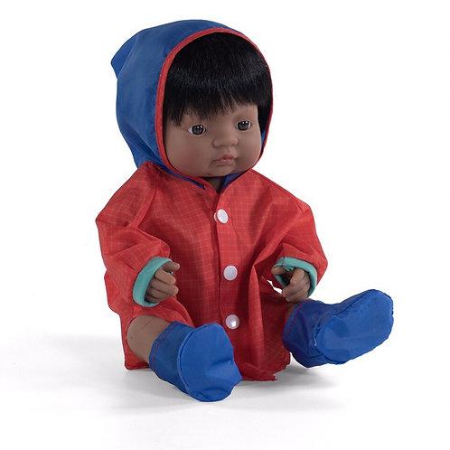 Miniland Raincoat & Boots Set (for 38cm Doll)