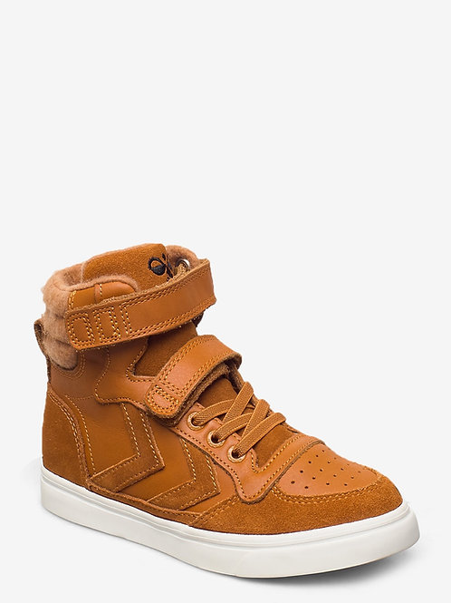 Hummel Stadil Winter High Tops Pumpkin Spice tan shoes boots