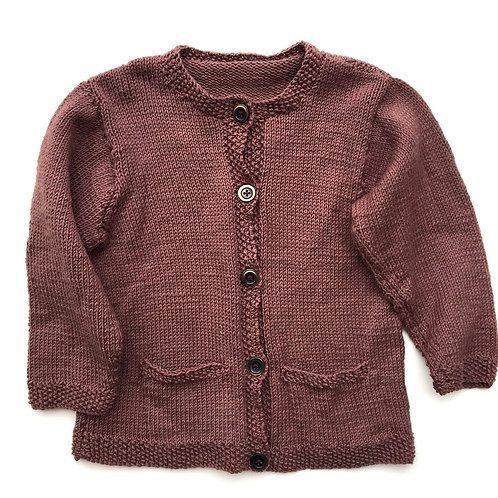 Vintage Hand Knitted Soft Praline Cardigan 4-6 Years