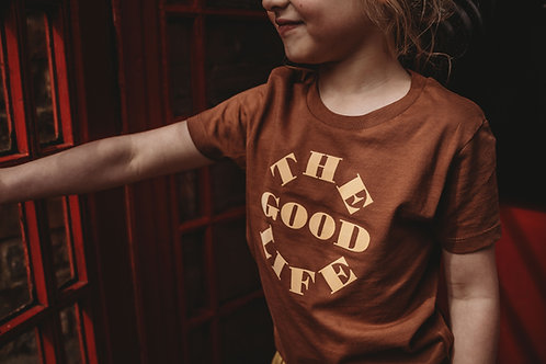 'The Good Life' Caramel T-Shirt by Other Kids