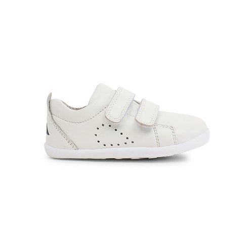 Bobux Grass Court Step-Up White trainers shoes