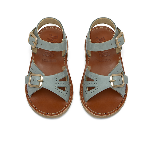 Young Soles Pearl Sandals - Smokey Sage Leather