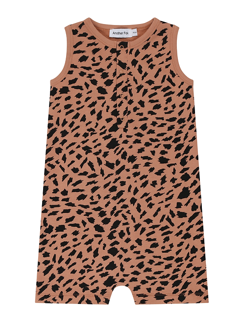 Abstract Animal Kids Sleeveless Romper - Another Fox