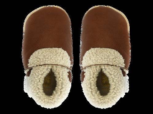 Bobux Slinks Leather Soft Sole -  Chestnut