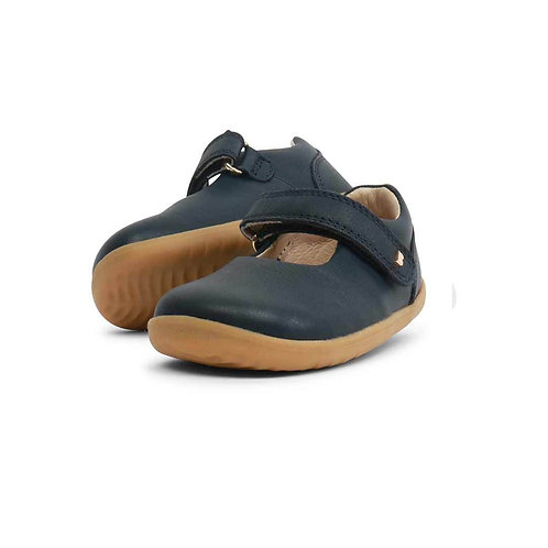 Bobux Step Up Delight Mary Jane First Walker shoes - Navy
