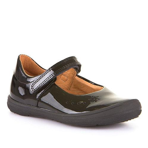 Froddo Black Patent Girls school shoes