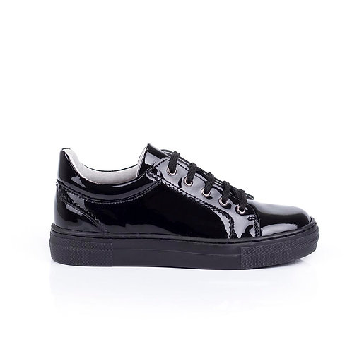 Bo-Bell Patent Leather Lace Up School Shoes