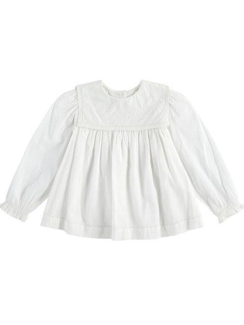 Eadie Sailor Collar Blouse Off White Little Cotton Clothes