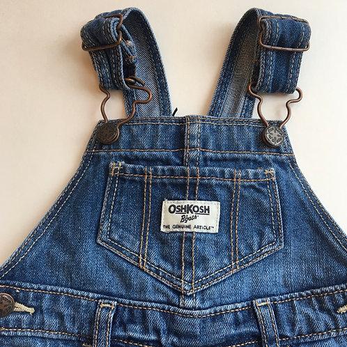 Vintage Original Osh Kosh Dungaree Dress 18 Month girls denim Sacred Hawk