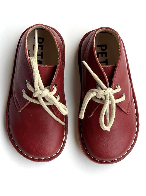 Petasil Koel Desert Boots Bordeaux Leather shoes