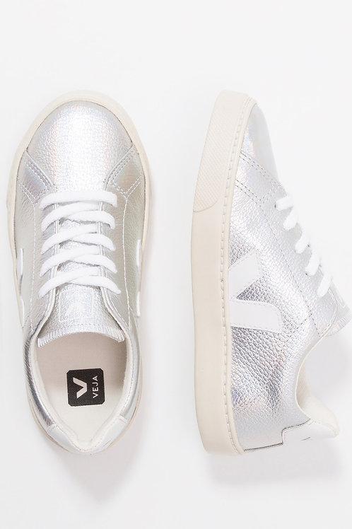 Veja Esplar Lace Leather unicorn white Teen Sizes shoes