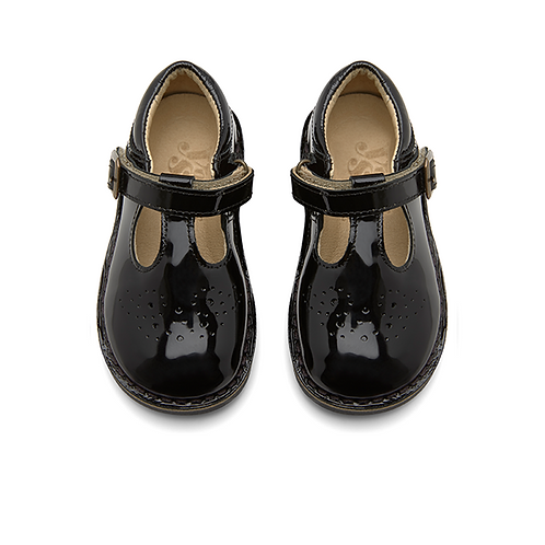 Young Soles Penny Patent Black shoes