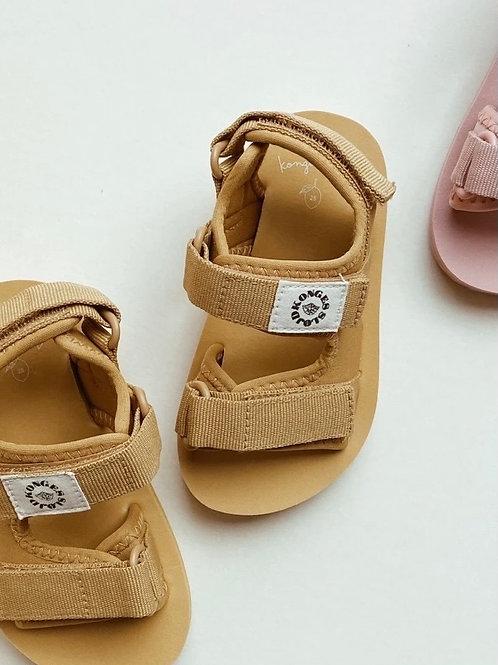 Konges Sløjd Sun Sandal mustard gold kids water shoes teva