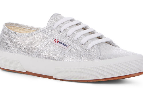 Superga Kids 2750 Lace-up Trainers - Silver Lame